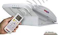 MaxxFan MaxxAir 12 Volt RV Trailer Roof Vent Fan White Lid w/ Remote 00-07000K