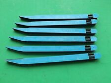 "6 New USA Made Hobby SANDING STICK 1/4"" x 6"" Blue  240 Grit Free Ship"