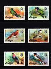 ANTIGUA - 1976 - BIRDS - PARROT - DOVE - PIGEON - SOLITAIRE ++ 6 X MNH SINGLES!
