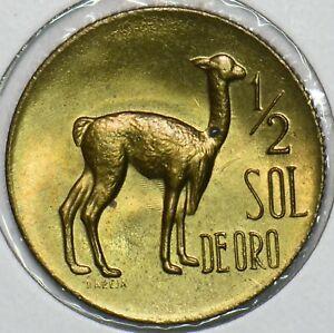Peru 1969 1/2 Sol Llama animal 196580 combine shipping
