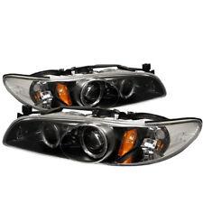 Pontiac 97-03 Grand Prix Black Dual Halo Projector Headlights Lamps GT GTP SE