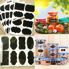 32pcs Black Decals Chalkboard Sticker Labels for Canisters Kitchen Jar Tags