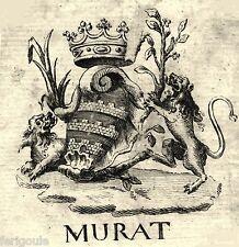 EX-LIBRIS de Louis MURAT DE L'ESTANG. Dauphiné.