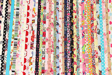 "10 PCs 2.5""x44"" Jelly Roll Strips Cotton Fabric Flower Mixed Quilt Patchwork R2"