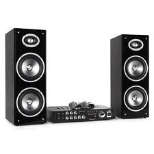 FUN BLACK LTC SEMI-PROFESSIONAL HOME COMPLETE KARAOKE AMP SPEAKER MIC SET USB