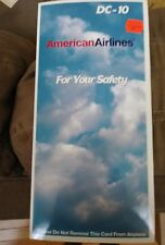 American Airlines DC-10 Safety Card