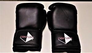 Century Black Kickboxing Boxing Martial Arts 12 oz Gloves Size Adult Unisex