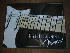 """Fender """"Built To Inspire"""" Metal Sign - Made In Usa - New!"""