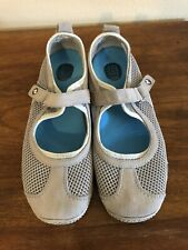 Merrell Circuit MJ Breeze Taupe Mesh Mary Jane Sandals Womens 6.5- EUC