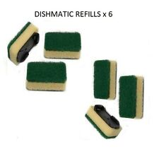 6X GENERAL PURPOSE GREEN DISHMATIC SPONGE REPLACEMENT REFILL HEAD