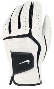 New Nike Dura Feel VI Golf Glove White Black Faux Leather Junior Medium