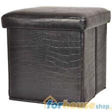 Pouf pelle 40x40x40cm nero 28307 coccodrillo vea