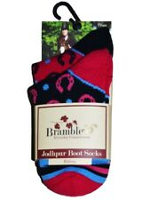 4 PAIRS (2 packs)  Ladies BRAMBLE Countrywear Jodhpur Riding Boot Socks  sz  4-7
