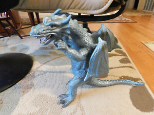 2005 Toy Major Trading Co BIG Scary Large Winged Dragon Metallic Rubbery Figure