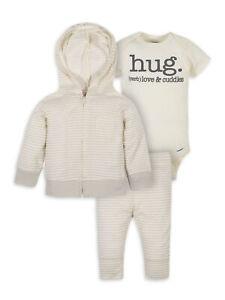 Gerber Baby Boy's 3 Piece Organic Jacket Outfit Sizes Newborn, 3-6 Months Cute