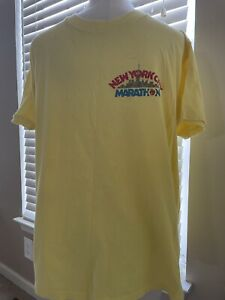 VTG T-shirt New York City Marathon Cotton Yellow XL Made In USA