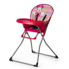 Hauck Hochstuhl Mac Baby - Disney - Minnie Geo Pink (zusammenklappbar mit Gurt)