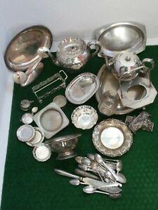 Konvolut Silberschrott versilbert Silberauflage Teekanne Schalen England 5,5 kg