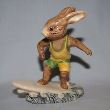 ROYAL DOULTON BUNNYKINS DB133 AUSSIE SURFER signed M Doulton