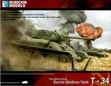 Rubicon Models 28mm 1/56 scale WW2 Soviet T-34 Medium Tank model