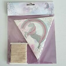 DIY Unicorn Bunting Kit With 10 Rigid Card Flags Girls Bedroom Birthday Party