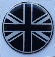 27mm Bandera Unión Jack Negro Blanco Pegatina Austin Mini Cooper Morris Rover Ford
