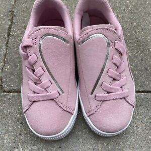 NEW PUMA pink suede CRUSH shoes toddler girl sz 11 *no box