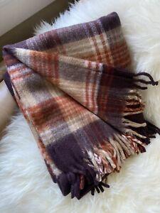 Vintage Faribo New Old Stock Glengary Fringe Throw Blanket 50X 60