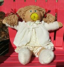 Signed Light Haired Cabbage Patch Girl W/ Pacifier - 1985