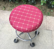 """Wine Red Bar Stool Cover Round Chair Dentist Seat Covers Sleeve 13""""14"""" 2 PCS"""