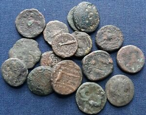 Lot of 17 Different Ancient Coins