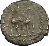 Honorius  on horse 392-395AD RARE Ancient  Roman Coin i39122
