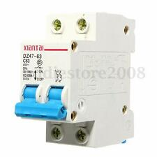 Miniature Circuit Breaker DZ47-63 C63 AC220/400V 2P 63A Rated Current White