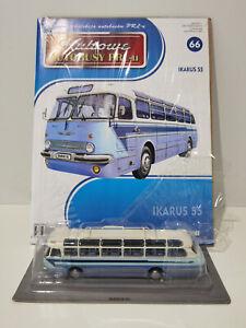 IXO IST IKARUS 55 Kultowe Autobusy PRL-u 1:72 no.66 polish bus ifa iveco