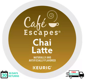 Cafe Escapes Chai Latte Keurig Coffee K-cups YOU PICK THE SIZE