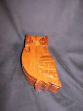 ** LQQK ** WOODEN OWL SHAPED 4 - PIECE PUZZLE TOY or KEEPSAKE BOX * VERY NICE **