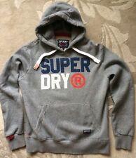 SuperDry Sport Goods Japan Hoodie Pullover LS Sweatshirt Bold Logo Men L Gray