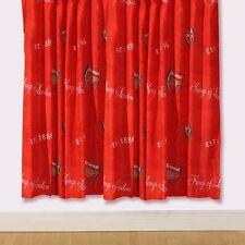 Arsenal London FC 2x Fertig-Gardinen Vorhänge-Set je 183 lang x168cm GUNNERS NEU