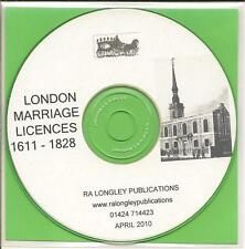 London Marriage Licenses CD 1611-1828