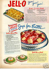 1950 Jell-O Lenten Lunch Salad Joys For Easter Print Ad