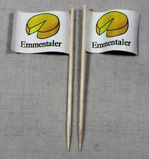 Party-Picker Emmentaler Käse 50 Stk Dekopicker Profiqualität Papierfähnchen Food