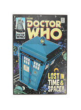Doctor Dr. Who TARDIS Comic Cover Light Up Framed Wall Art Lost in Time & Space