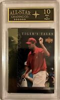 Tiger Woods 2001 Upper Deck Rookie Year Card #TT8 ASG Graded 10 MINT