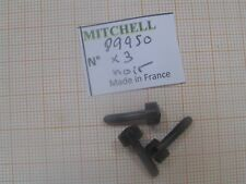3 VIS PORTE BOBINE NOIRE PUNCH 400 & autres MOULINETS MITCHELL SCREW PART 89950