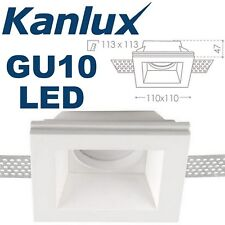 Kanlux IMOE DSL50 Recessed Plaster In Ceiling LED Downlight Decorative Square