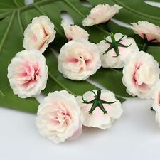 20P Artificial Silk Fake Small Pink Rose Flower Floral Heads Bulk Craft Decor