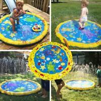 Wasser Spielmatte Sprinkler Spielzeug Aktivität Kleinkinder Baby Pool aufbl D0I6