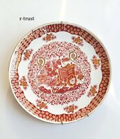 ANTIQU JAPAN PORCELAIN RED&GOLDEN TROLLY HAND MADE WALL PLATE DECORATIVE ART