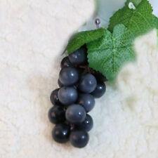 Hot Bunch Lifelike Artificial Grapes Plastic Fake Fruit Home Decoration Ojus