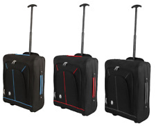 Cabin Bag Hand Luggage Suitcase Wheeled Trolley Travel Case Bag Free P&P